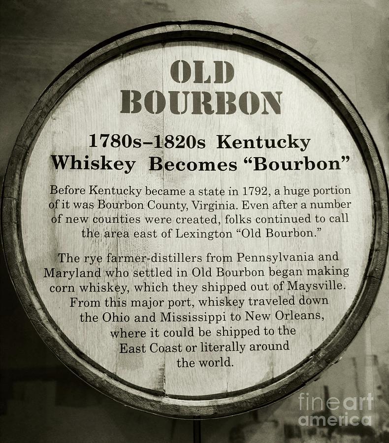 Bourbon Photograph - Old Bourbon by Mel Steinhauer