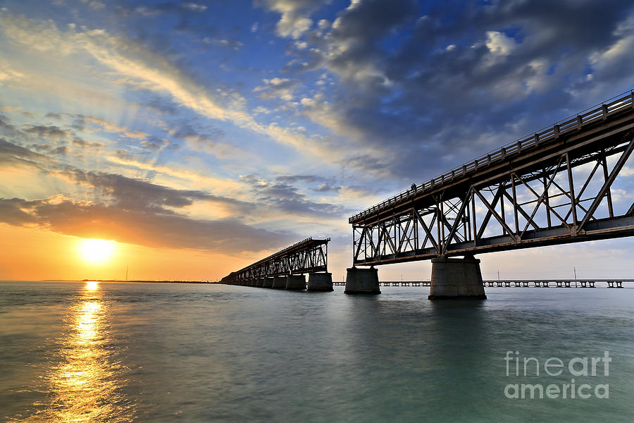 Old Bridge Sunset Photograph