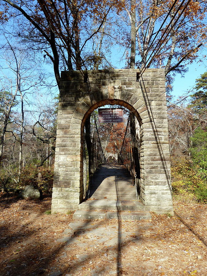 Ccc Photograph - Old Ccc Swinging Bridge by Joel Deutsch