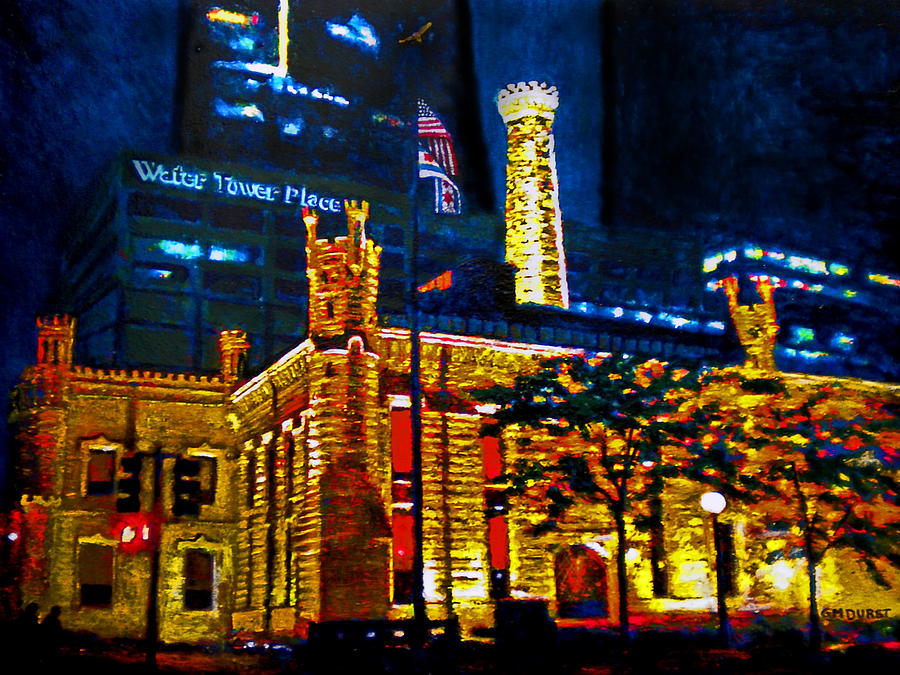 Chicago Painting - Old Chicago Pumping Station by Michael Durst
