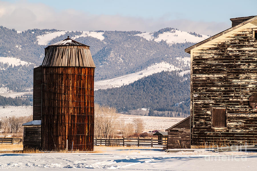 Usa Photograph - Old Farm Buildings by Sue Smith
