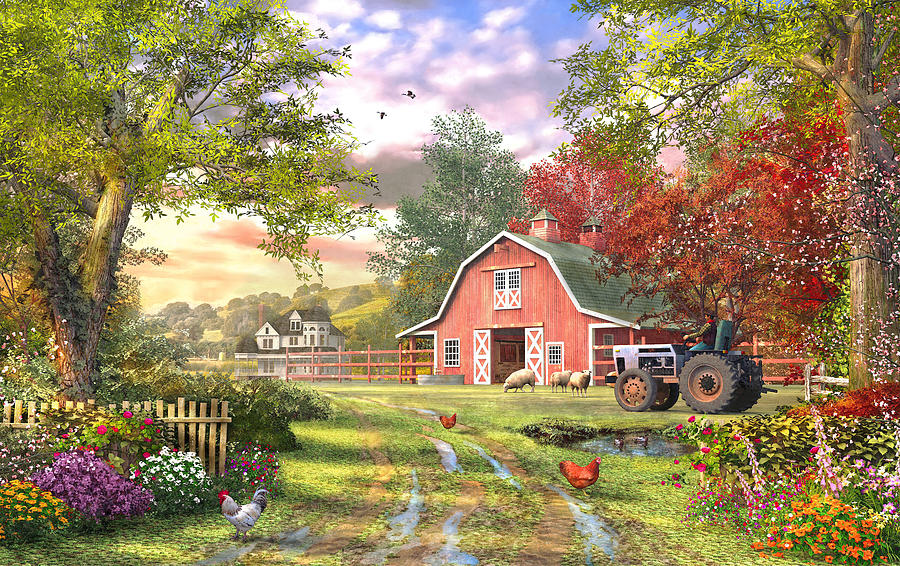 Old Farm House Variant 1 Digital Art By Dominic Davison