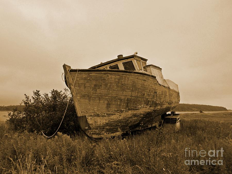 Old Fishing Boat Photograph - Old Fishing Boat by John Malone