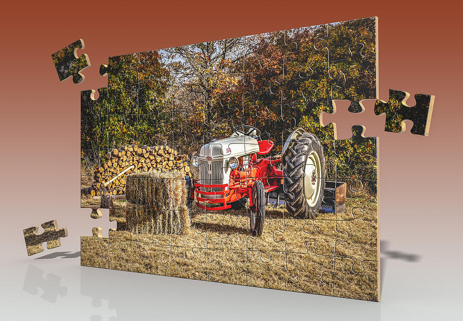 8n Ford Art : Old ford tractor puzzle photograph by doug long