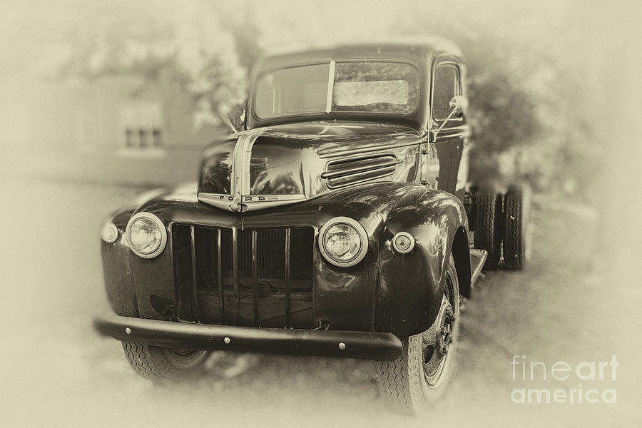 Old Ford Truck Photograph