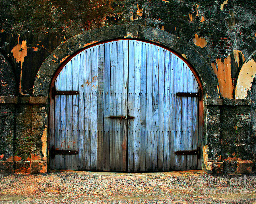 Fort Photograph - Old Fort Doors by Perry Webster