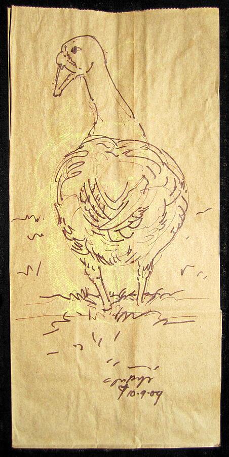 Radical Reconstruction Mixed Media - Old Goose by Radical Reconstruction Fine Art Featuring Nancy Wood