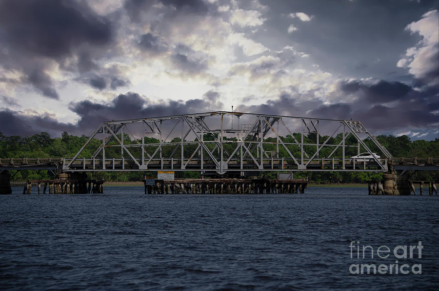 Old Highway 41 Swing Bridge Over The Wando River In Charleston Sc Photograph