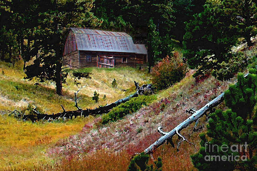 Impressionism Photograph - Old Horse Barn In The Draw by Terril Heilman