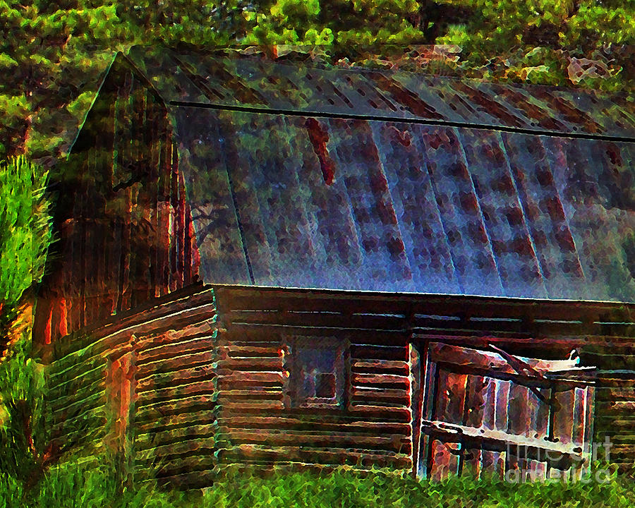 Old Horse Barn In The Pines Photograph