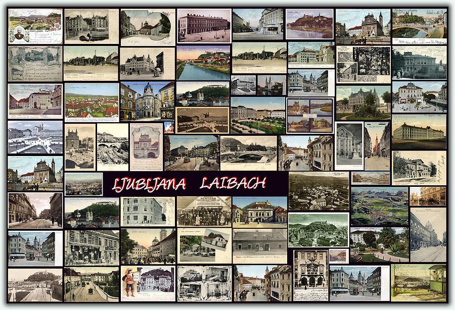 Old Ljubljana Collage Pyrography
