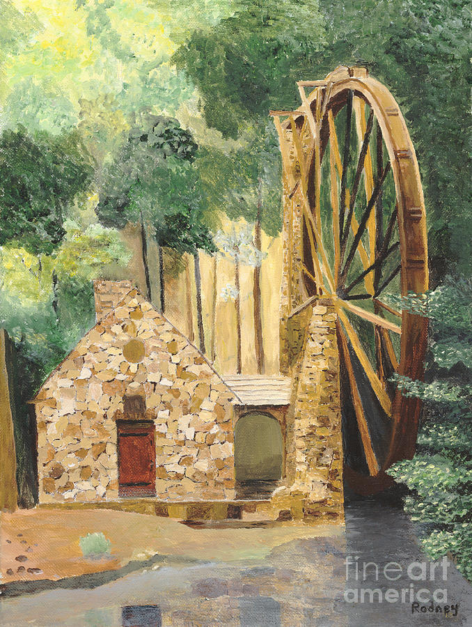 Mill Painting - Old Mill At Berry College by Rodney Campbell
