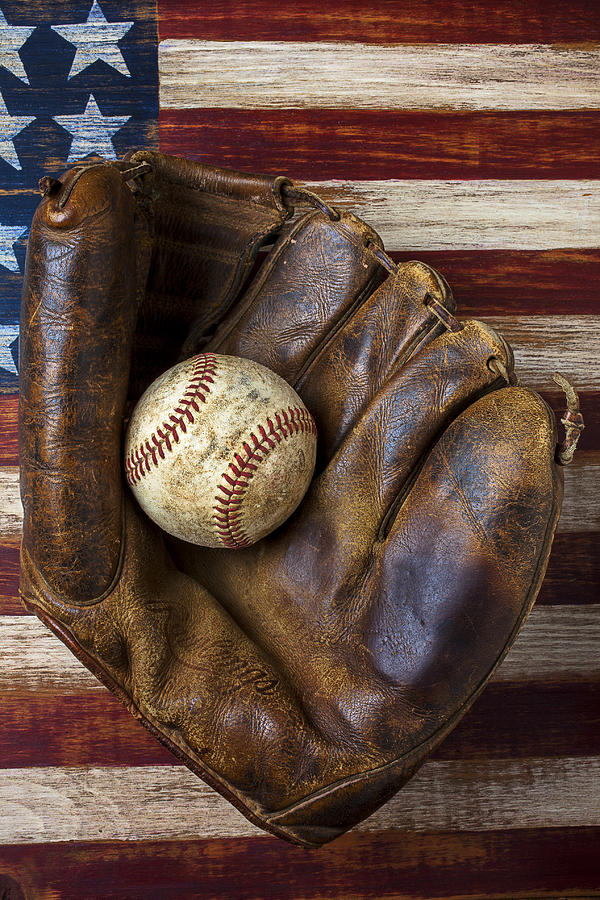 Old Mitt And Baseball Photograph