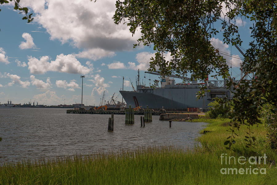 Old Navy Base On The Cooper River In Charleston Photograph