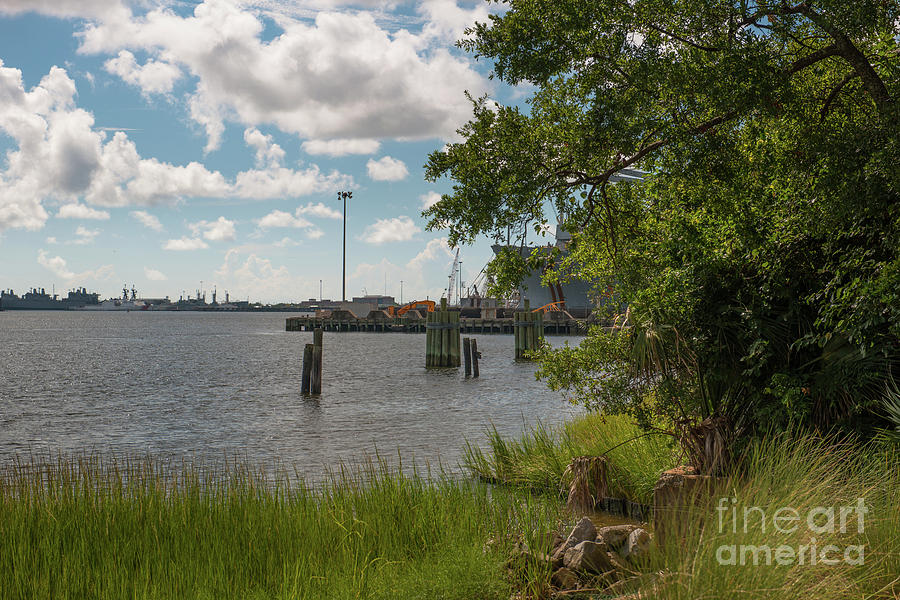 Old Navy Base On The Cooper River In North Charleston Photograph