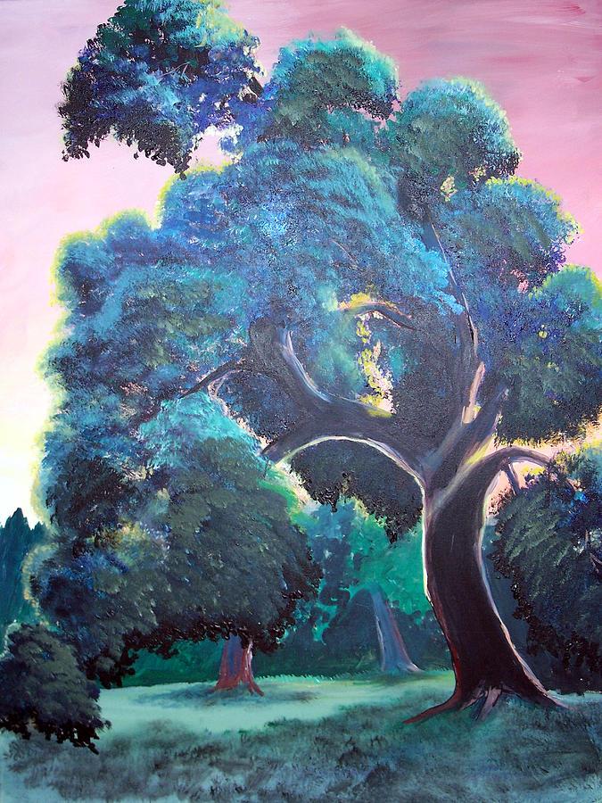 Tree Painting - Old Oak by Jenn Cunningham