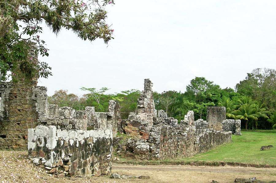 La Vieja Photograph - Old Panama City Ruins 8 by Douglas Barnett