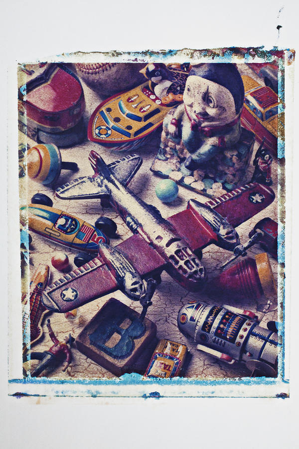 Toy Photograph - Old Plane And Other Toys by Garry Gay