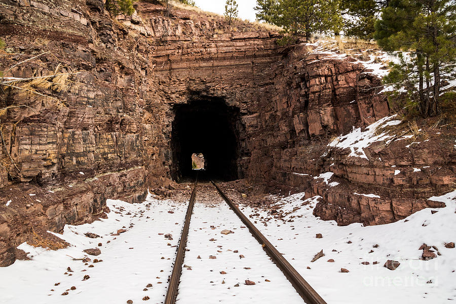 Montana Photograph - Old Railroad Tunnel by Sue Smith