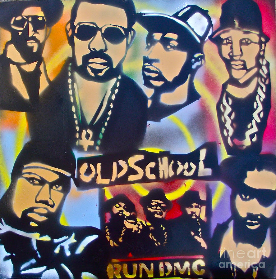 Hip Hop Painting - Old School Hip Hop 3 by Tony B Conscious