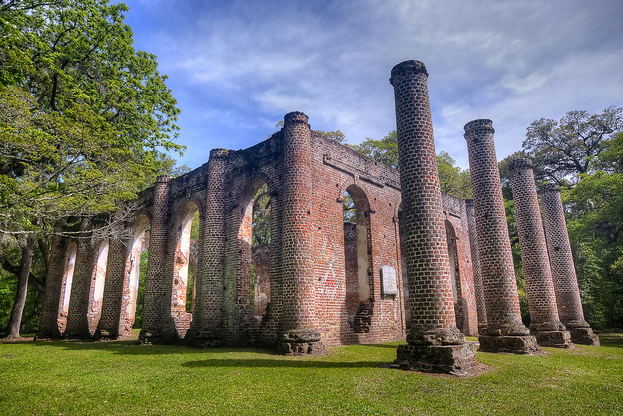 Landscape Photograph - Old Sheldon Church by Andreas Freund