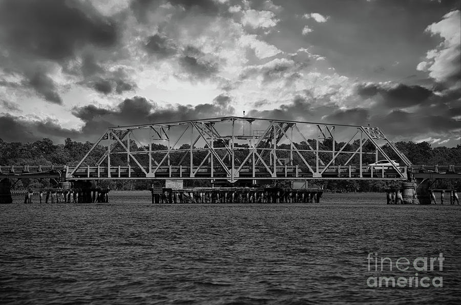 Old Swing Bridge On Highway 41 Over The Wando River Photograph