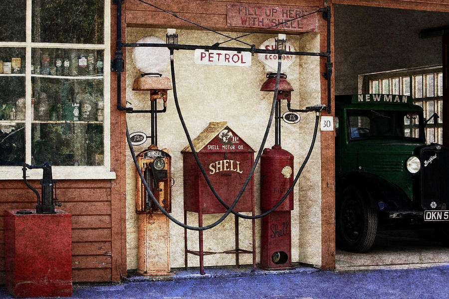 Old Time Gas Station Photograph