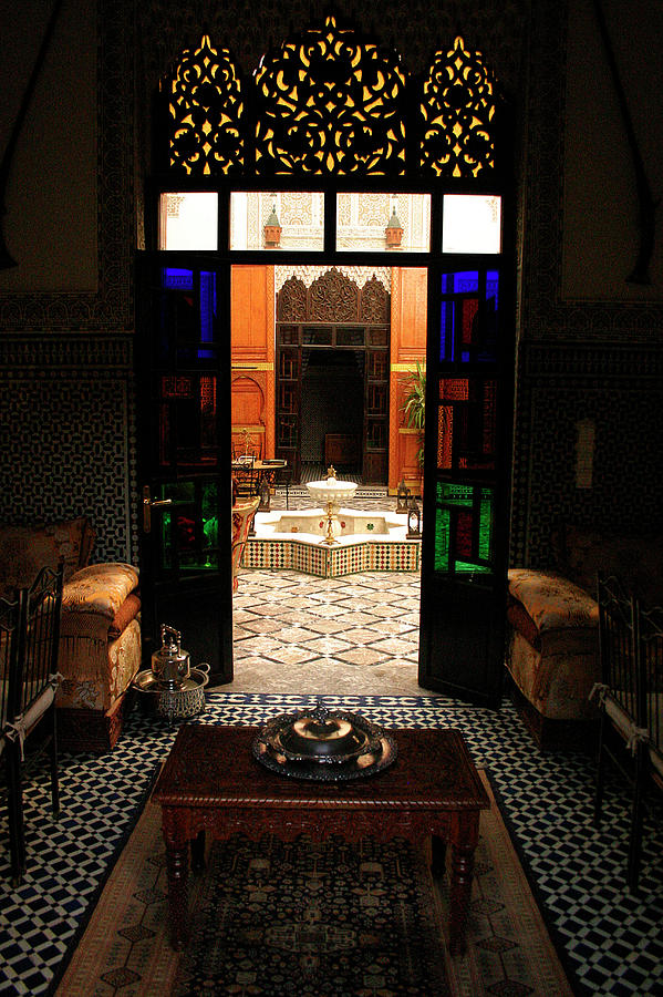 Riad Photograph - Old Traditional Riad In Fez by Ralph A  Ledergerber-Photography