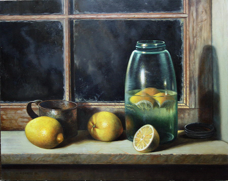 Still-life Painting - Old Tyme Lemonade by William Albanese Sr