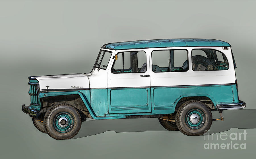 old willys jeep wagon digital art by randy steele. Black Bedroom Furniture Sets. Home Design Ideas