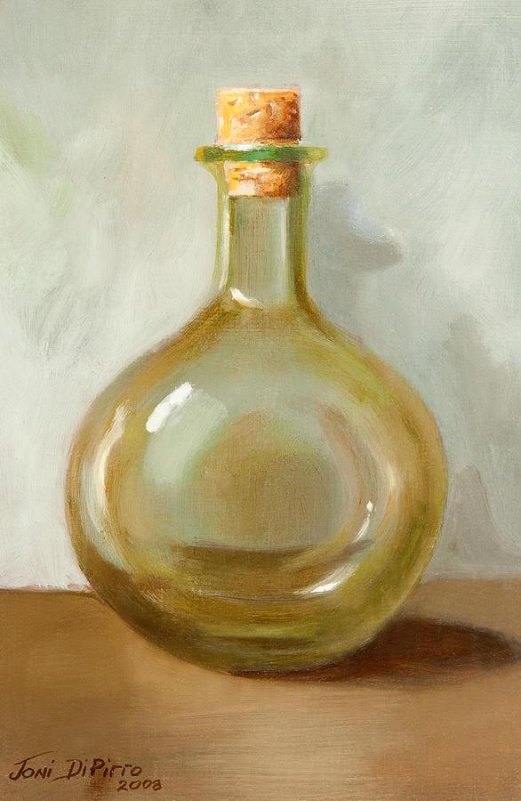 Olive Oil Painting - Olive Oil Bottle Still Life  by Joni Dipirro