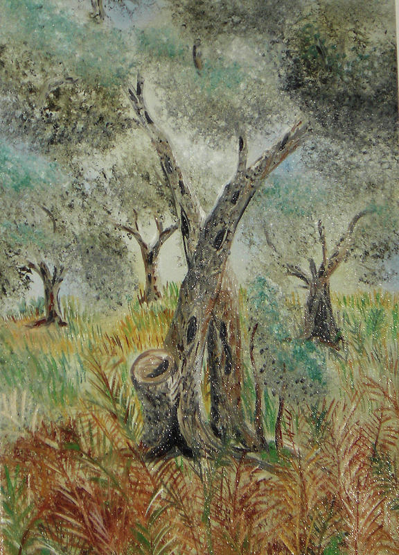 Nature Painting - Olive Tree No 5  by Anna Witkowska
