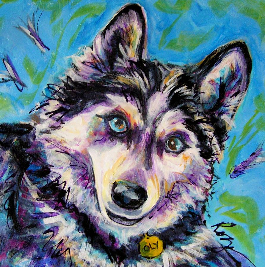 Dogs Painting - Oly-oly Oxenfree by Judy  Rogan