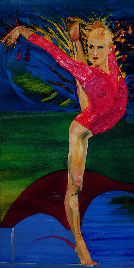 Olympic Gymnast Photo Painting - Olympic Gymnast Nastia Liukin  by Gregory Allen Page
