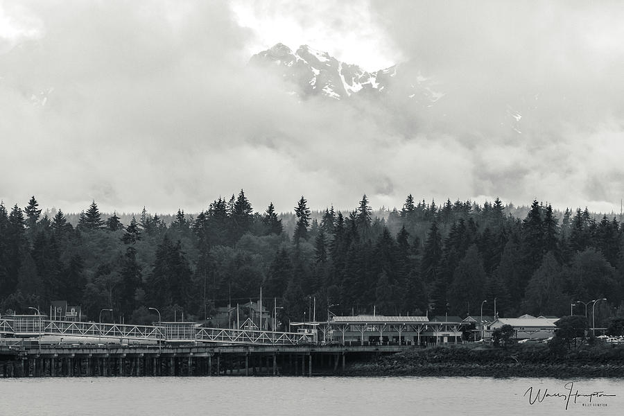 Olympic Mountains From Kingston, Wa - 1498,sw Photograph
