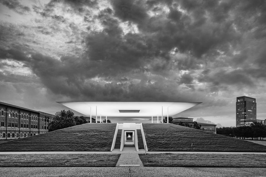 ominous clouds over the james turrell skyscape twilight epiphany rice university houston texas. Black Bedroom Furniture Sets. Home Design Ideas