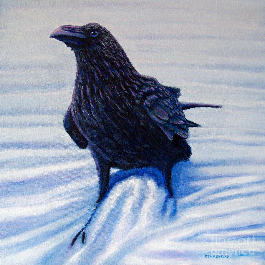 Raven Painting - On Canyon Road by Brian  Commerford
