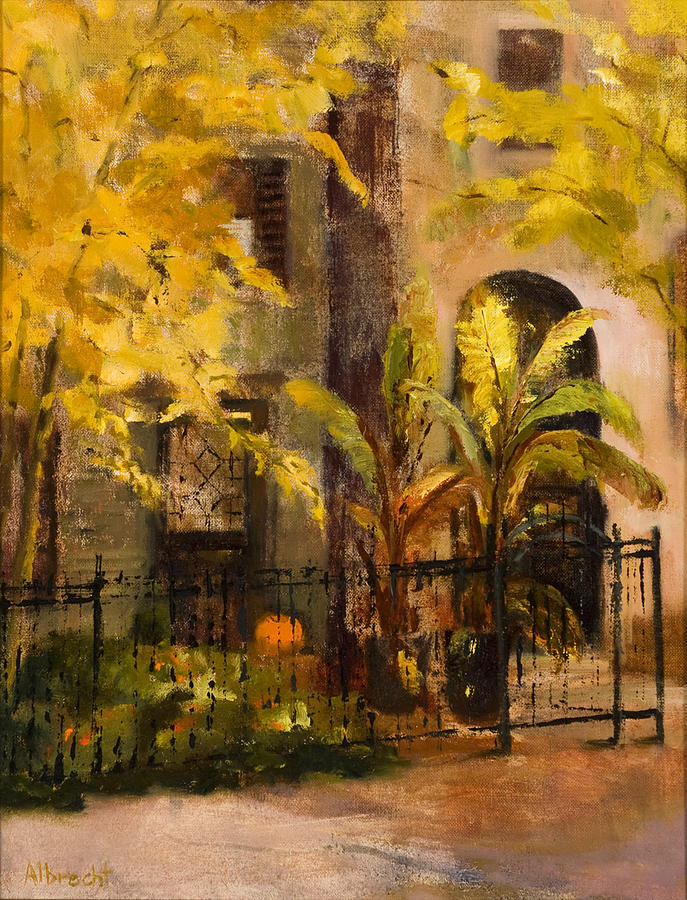 Autumn Garden Painting - On Orleans In Old Town  by Nancy Albrecht