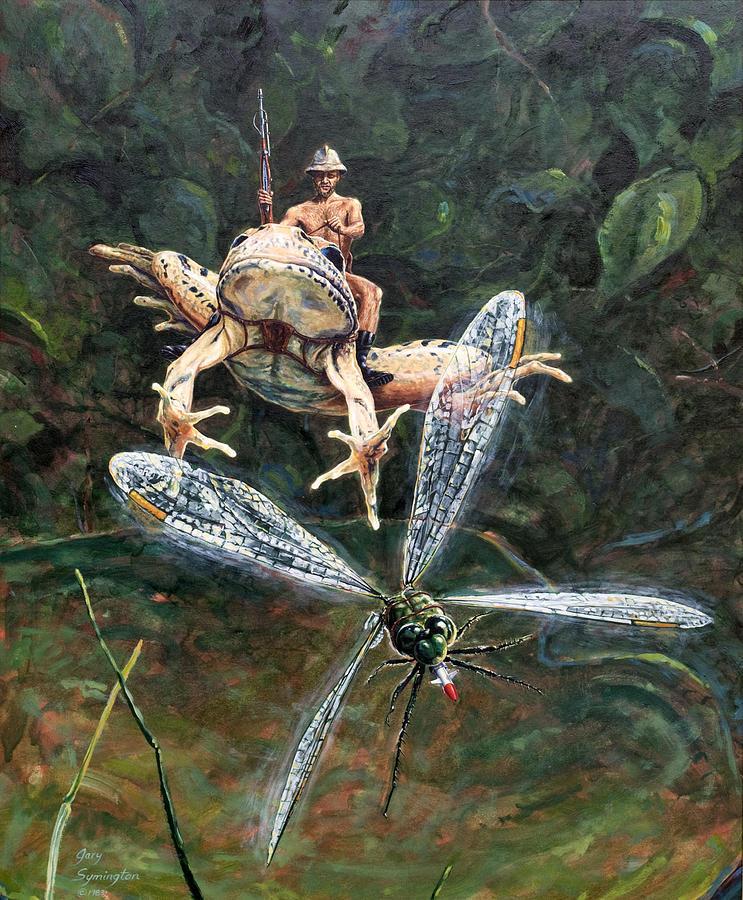 Fantasy Painting - On Patrol by Gary Symington