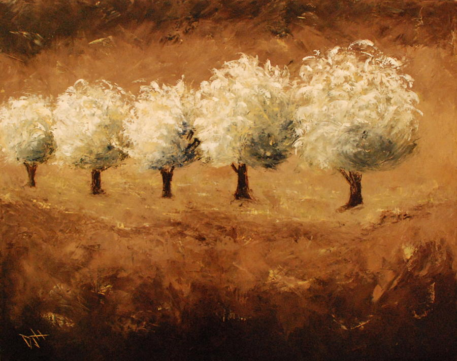 Trees Painting - On The Edge by Debra Houston