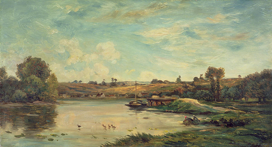The Painting - On The Loire by Charles Francois Daubigny