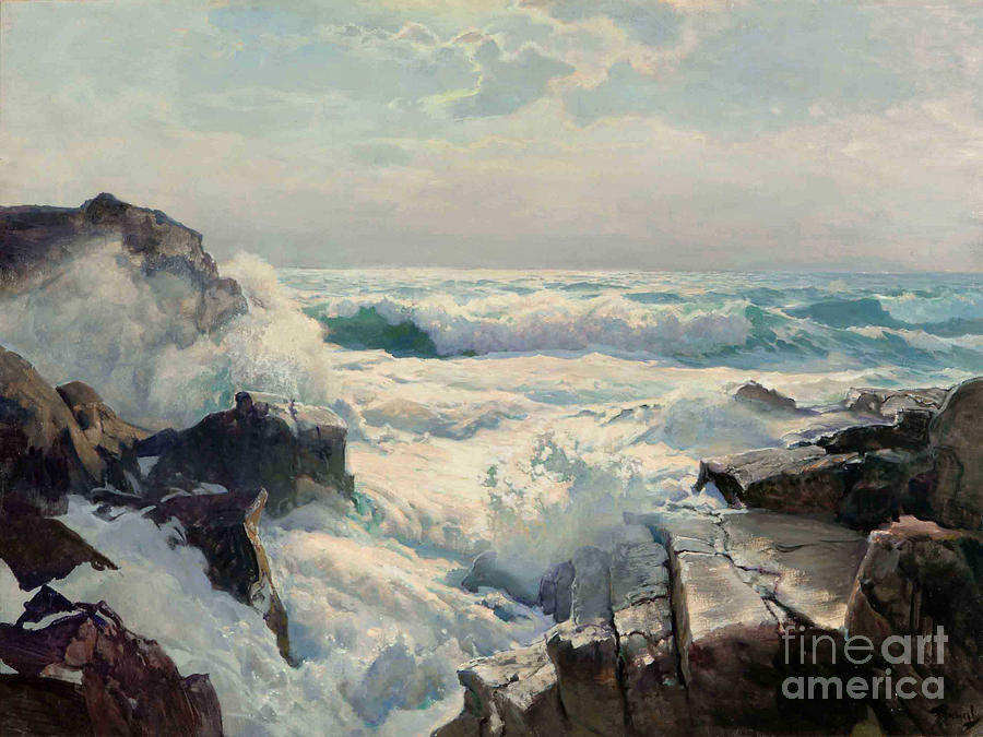 Pd Painting - On The Maine Coast by Pg Reproductions