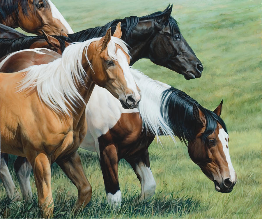 Michelle Grant Painting - On The Move  by JQ Licensing