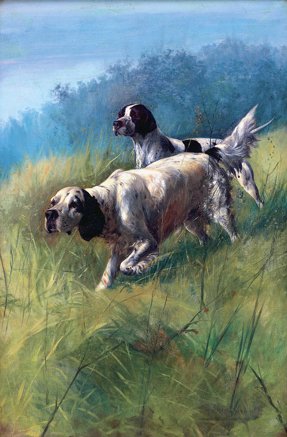 Dogs Painting - On The Scent by Unknown