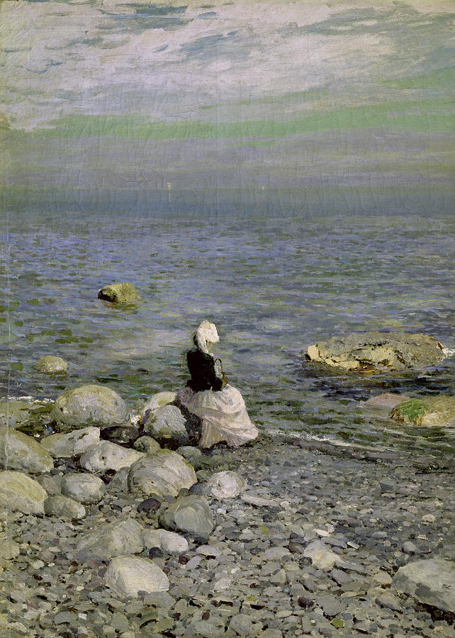 On The Shore Of The Black Sea Painting