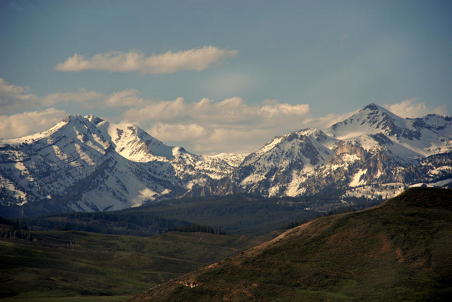 Landscape Photograph - On The Way To Jacksonhole Wy by Susanne Van Hulst