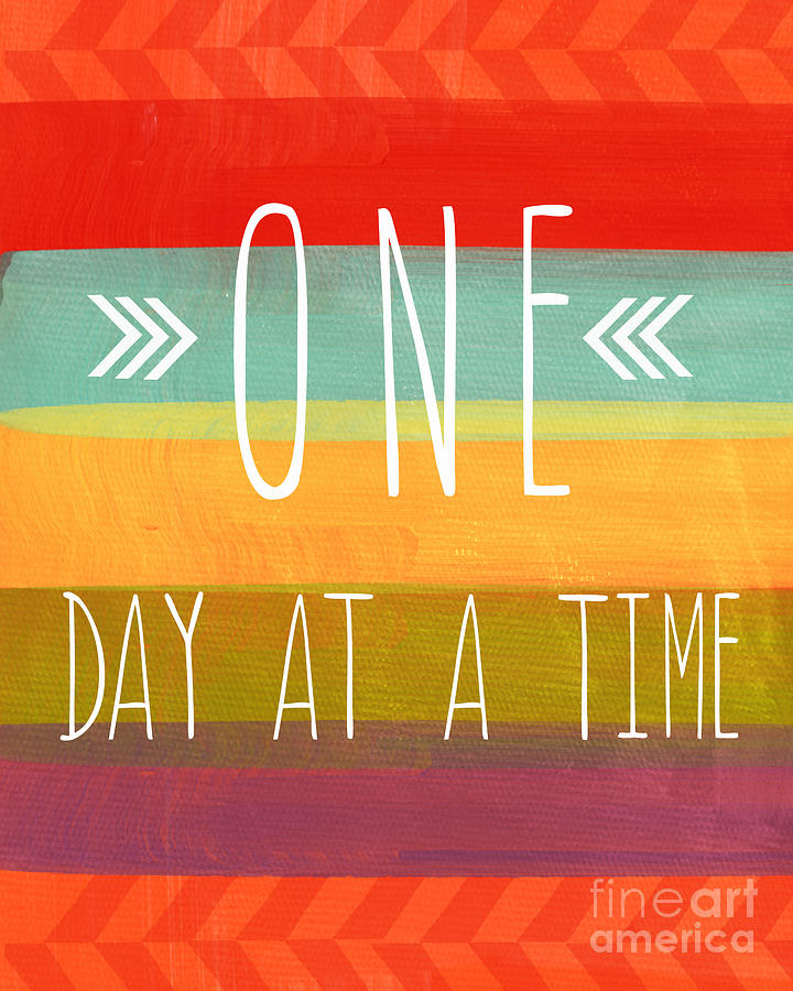 One Day At A Time Mixed Media by Linda Woods