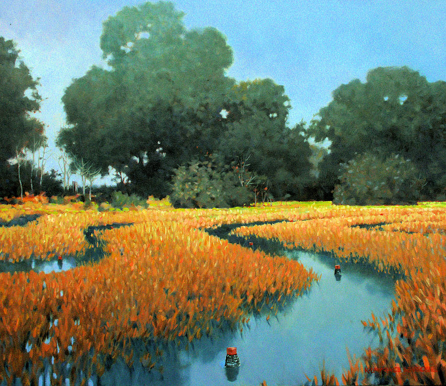 Landscape Painting - One Fine Dish by Kevin Lawrence Leveque