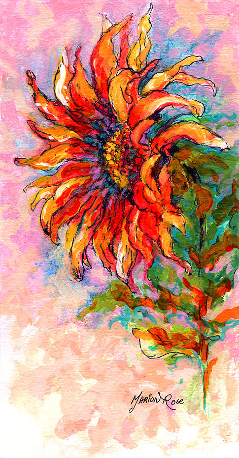 One Sunflower Painting