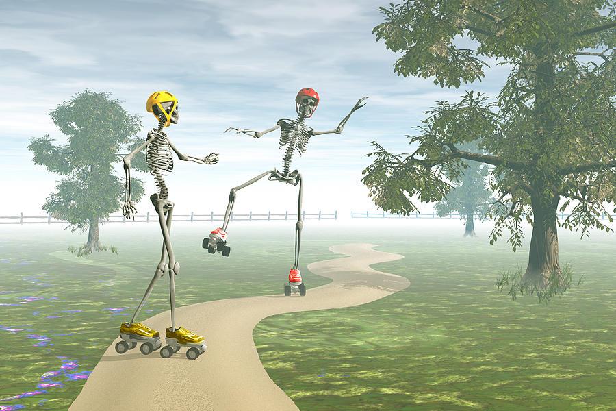 Bones Digital Art - Ooops   by Carol and Mike Werner